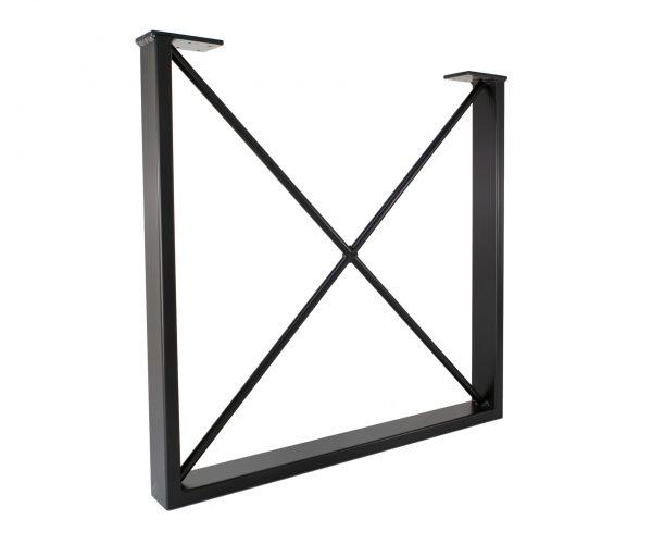 Rectangular Square Metal X Frame Thin Table Legs Workshop 24